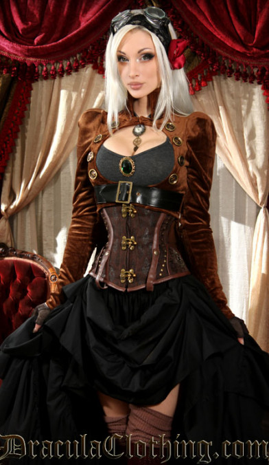 Brown Openbust Tailcoat