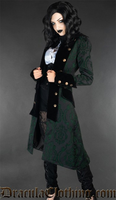 Green Pirate Princess Coat