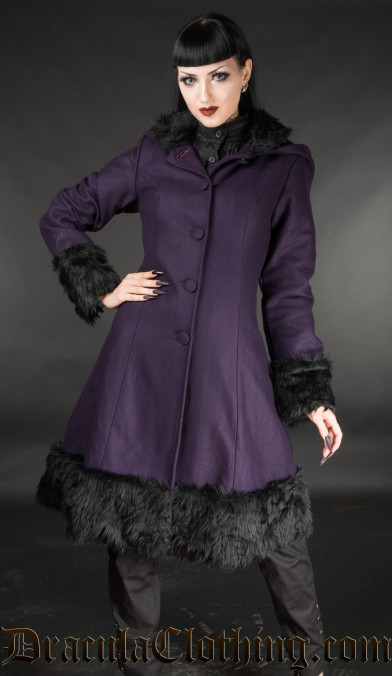 Purple Winter Wool Coat