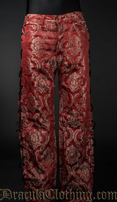 Red Royal Laced Pants