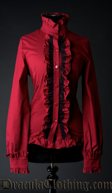 Red Victorian Blouse