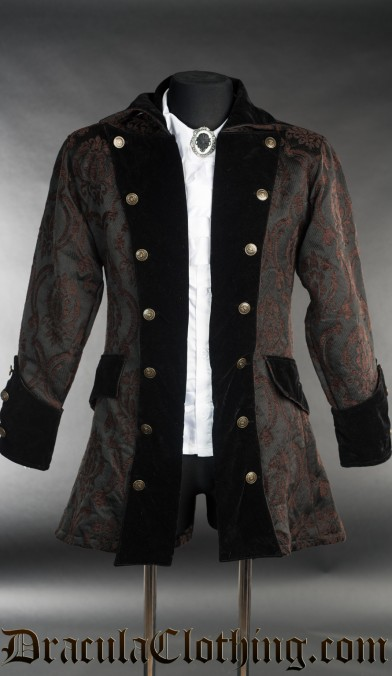 Steampunk Brocade Pirate Jacket