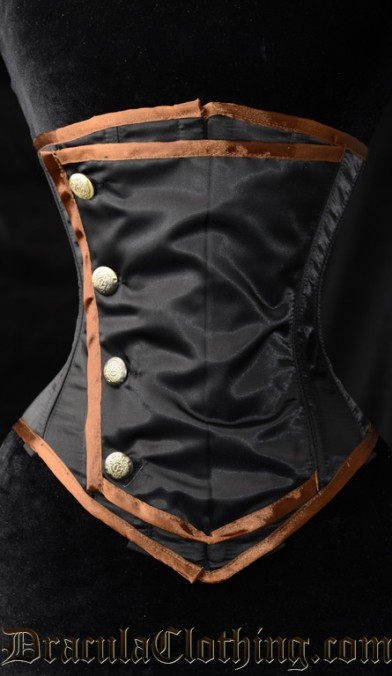 Steampunk Officer Underbust Corset