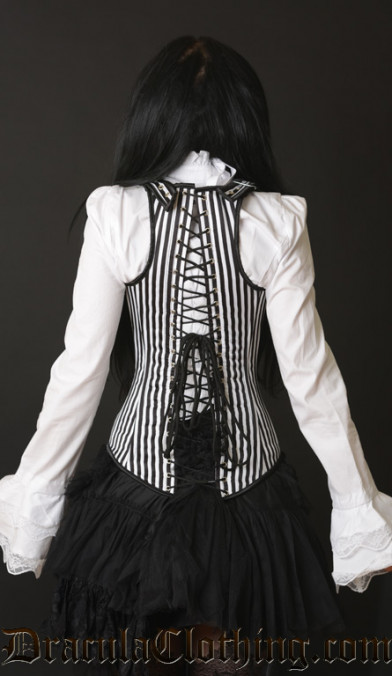 Striped Shoulder Corset