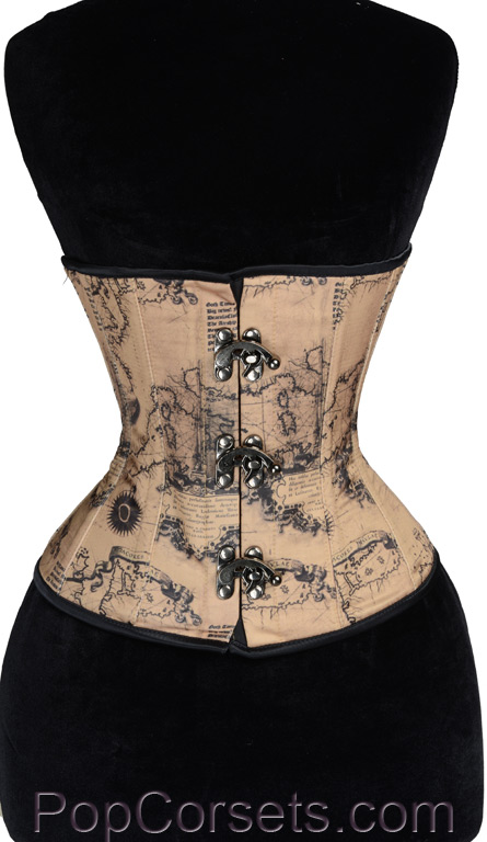 Map Clasp Corset