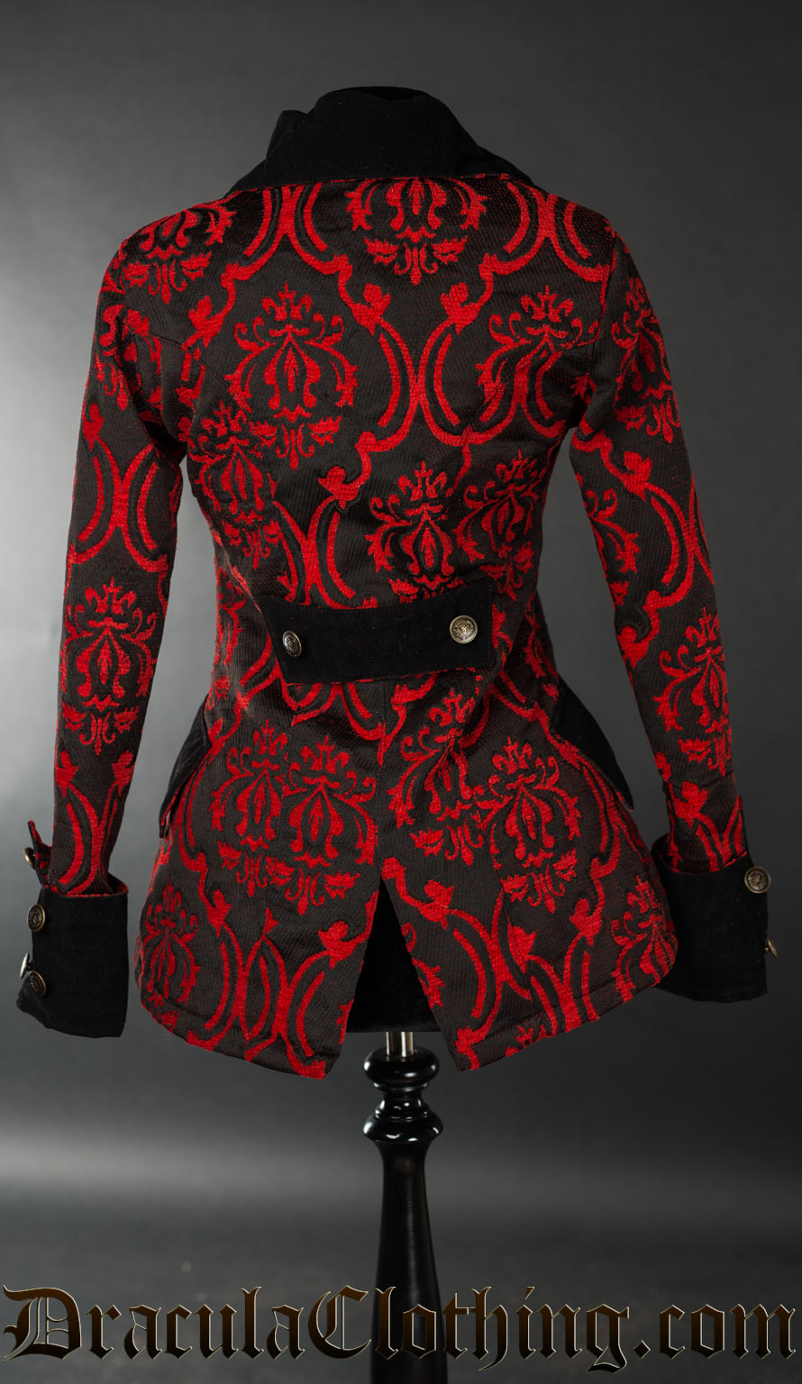 Red Brocade Female Pirate Jacket